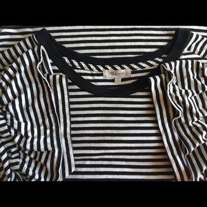 Madewell Tops - Madewell Ruffle Sleeve Tee in Stripe